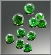 A parcel of Russian demantoid garnets.